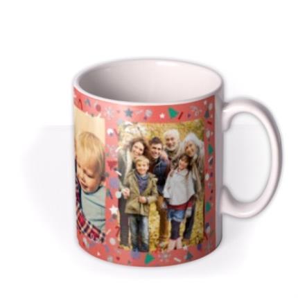 Mugs - Merry Christmas Orange Photo Upload Mug - Image 2
