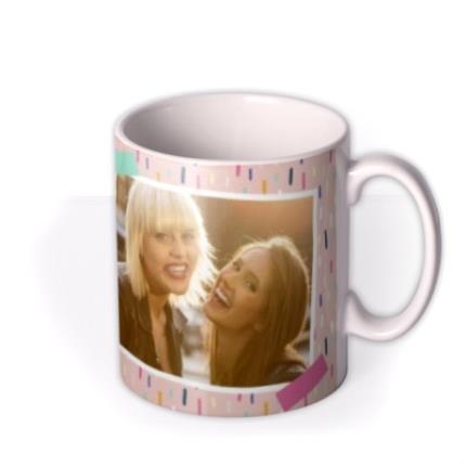 Mugs - Pretty Pastel Design Photo Happy Birthday Mug - Image 2