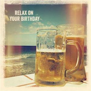 Beers On The Beach Personalised Happy Birthday Card