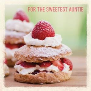 Greeting Cards - Birthday Card - Sweetest Auntie - Scones - Image 1