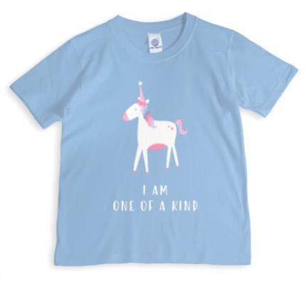 T-Shirts - Unicorn I Am One Of A Kind Light Blue T-Shirt - Image 1