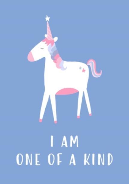 T-Shirts - Unicorn I Am One Of A Kind Light Blue T-Shirt - Image 4