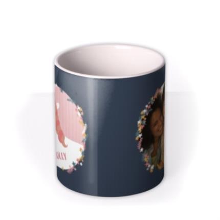 Mugs - Pink-Haired Unicorn Photo Happy Birthday Mug - Image 3