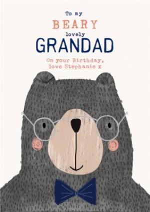 Greeting Cards - Beary Lovely Grandad - Birthday Card - Bear - Image 1