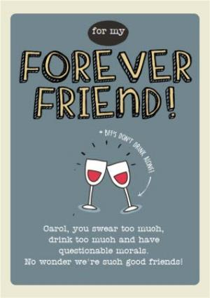 For My Forever Friend Personalised Happy Birthday Card