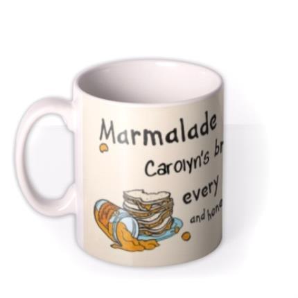 Mugs - Paddington Bear Marmalade Breakfast Personalised Name Mug - Image 1