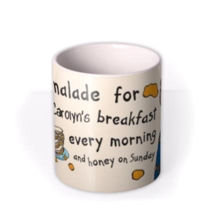Mugs - Paddington Bear Marmalade Breakfast Personalised Name Mug - Image 3
