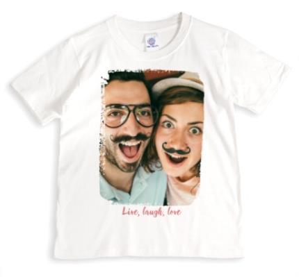 T-Shirts - Live, Laugh, Love Photo Upload T-shirt - Image 1