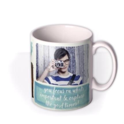 Mugs - Capture Good Times Photo Upload Mug - Image 2