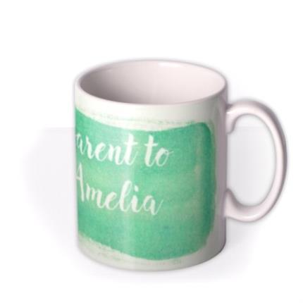 Mugs - New Baby Proud Parents Green Personalised Mug - Image 2