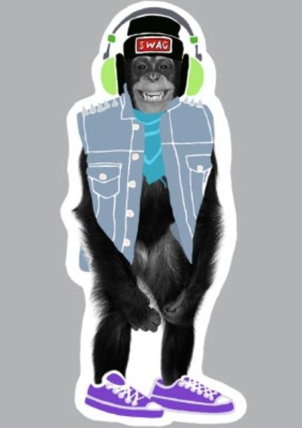 T-Shirts - Cheeky Monkey! Personalised T-shirt - Image 4