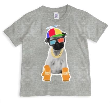 T-Shirts - Yappy Pug! Personalised T-shirt - Image 1