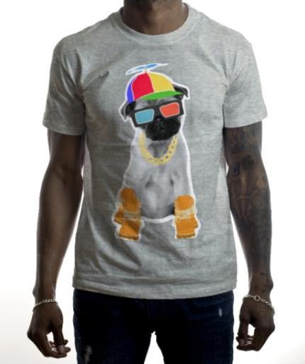T-Shirts - Yappy Pug! Personalised T-shirt - Image 2