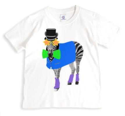T-Shirts - Zebra Doodle Personalised T-shirt - Image 1