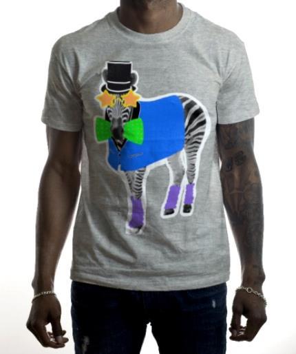 T-Shirts - Zebra Doodle Personalised T-shirt - Image 2