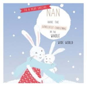 Greeting Cards - Loveliest Christmas For Nan Card - Image 1