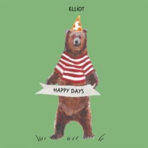Greeting Cards - Bear birthday card - happy days  - Image 1