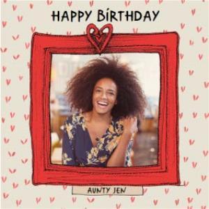 Greeting Cards - Birthday Card - Photo Upload - Aunty - Photo Frame - Image 1