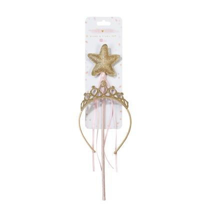Party - Talking Tables Fairy Tiara & Wand Dress Up - Image 2
