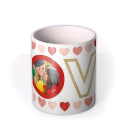 Mugs - LOVE and Hearts Photo Upload Mug - Image 3