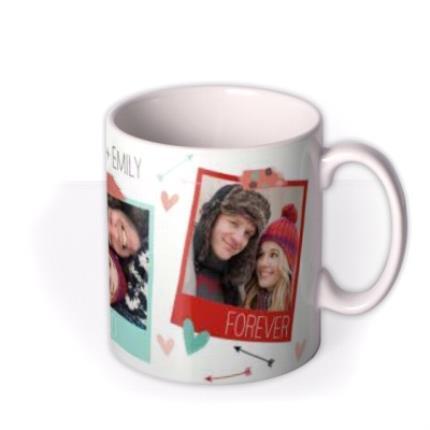 Mugs - Always and Forever Hearts and Arrows Photo Upload Mug - Image 2