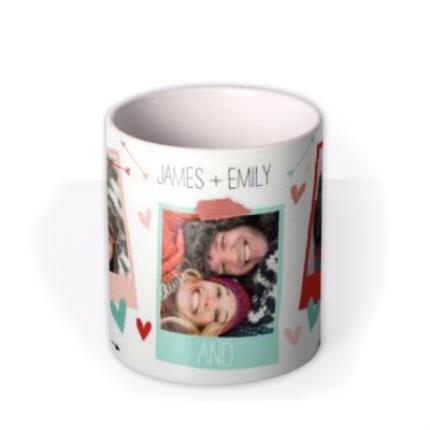Mugs - Always and Forever Hearts and Arrows Photo Upload Mug - Image 3