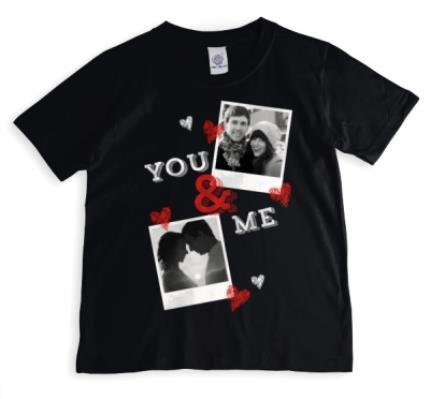 T-Shirts - You & Me Double Photo Upload T-Shirt - Image 1