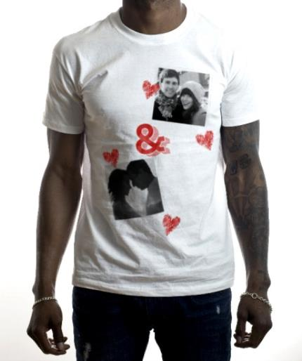 T-Shirts - You & Me Double Photo Upload T-Shirt - Image 2