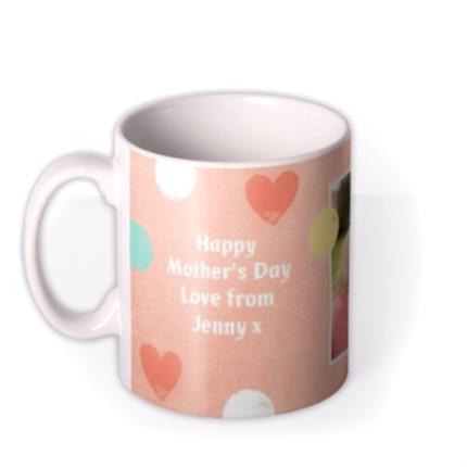 Mugs - Pastel Hearts Personalised And Photo Mug - Image 1