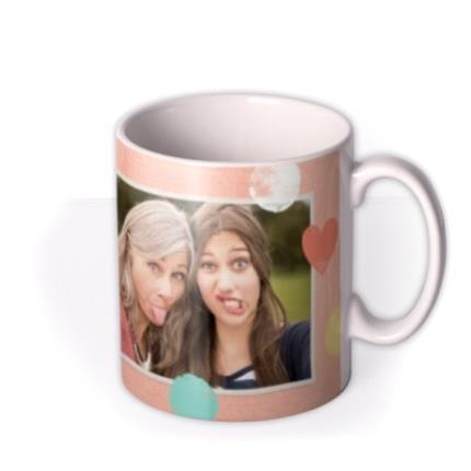 Mugs - Pastel Hearts Personalised And Photo Mug - Image 2