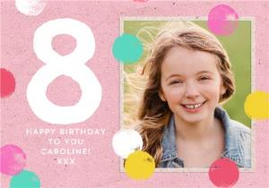 Greeting Cards - Kids Photo upload 8th birthday card - Image 1