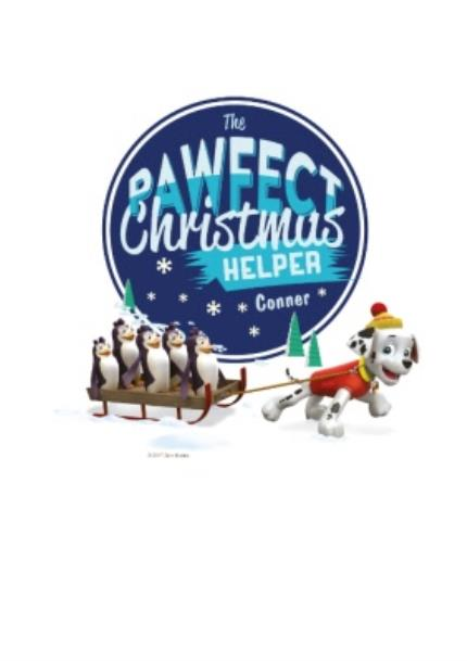 T-Shirts - Paw Patrol The Pawfect Christmas Helper T-Shirt - Image 4