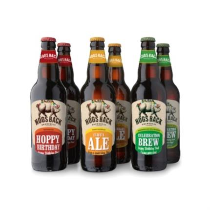 Alcohol Gifts - Exclusive Personalised Hogs Back Six Pack - Image 1