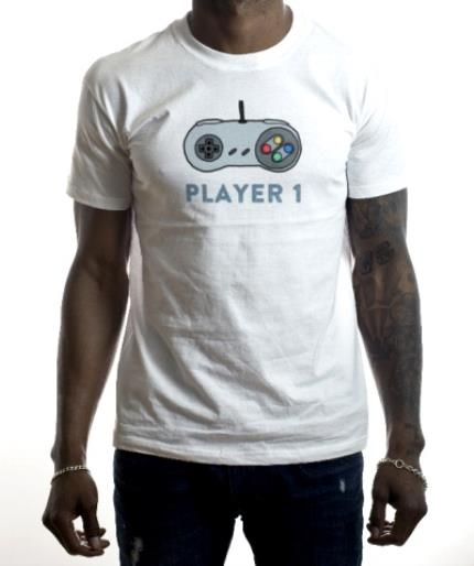 T-Shirts - Player 1 Combo Personalised T-shirt - Image 2