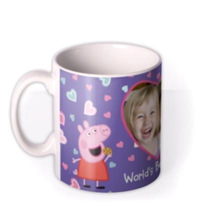 Mugs - Mother's Day Peppa Pig Best Mum Photo Upload Mug - Image 1