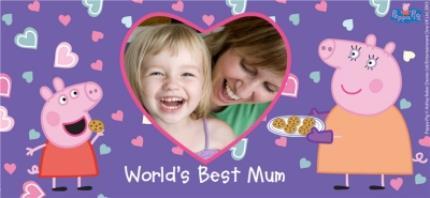Mugs - Mother's Day Peppa Pig Best Mum Photo Upload Mug - Image 4