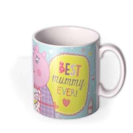 Mugs - Peppa Pig Best Mummy Ever Photo Upload Mug - Image 2