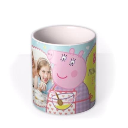 Mugs - Peppa Pig Best Mummy Ever Photo Upload Mug - Image 3