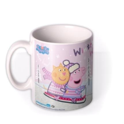 Mugs - Christmas Peppa Pig Sledge Personalised Mug - Image 1