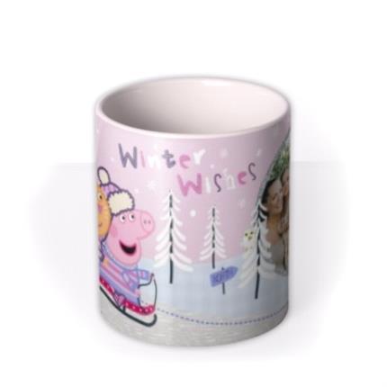 Mugs - Christmas Peppa Pig Sledge Personalised Mug - Image 3