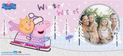 Mugs - Christmas Peppa Pig Sledge Personalised Mug - Image 4