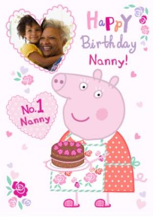 Greeting Cards - Birthday Card - Nanny - Peppa Pig - photo upload card - Image 1