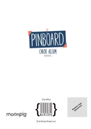 Greeting Cards - Birthday Photo Upload Card - Wonderful Partner - Pinboard - Photo Upload - Image 4