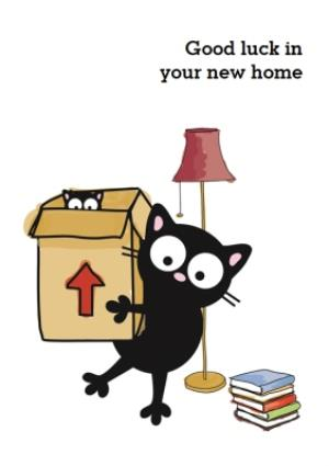 Greeting Cards - Black Cats Good Luck In Your New Home Card - Image 1