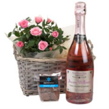 Plants - Personalised Sparkling Rose Gift Basket - Image 3