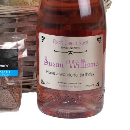 Plants - Personalised Sparkling Rose Gift Basket - Image 4