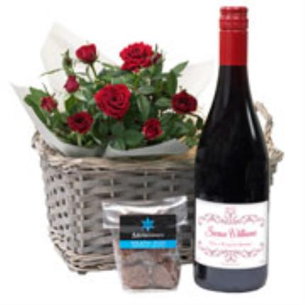 Plants - Personalised Red Wine Gift Basket - Image 3