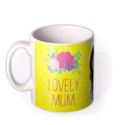Mugs - Mother's Day Yellow Floral Photo Upload Mug - Image 1