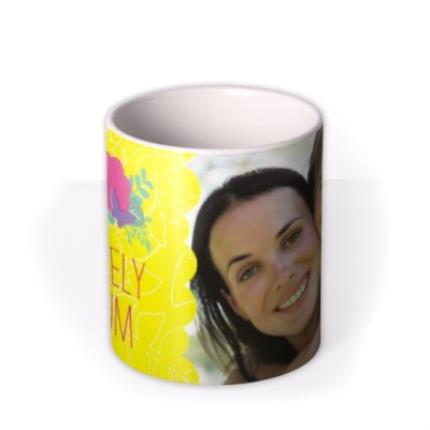 Mugs - Mother's Day Yellow Floral Photo Upload Mug - Image 3
