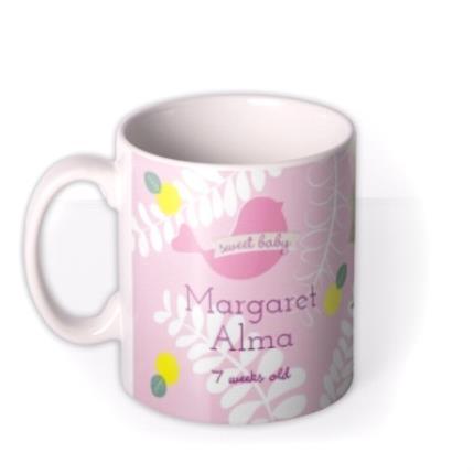 Mugs - New Baby Pink Photo Upload Mug - Image 1